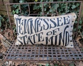 Tennessee State Of Mind Burlap Pillow