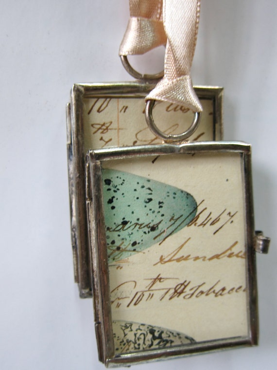 Vintage Ledger Paper Locket Tags