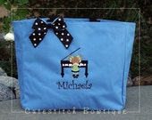 Personalized Piano Music Tote Bag