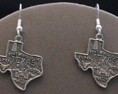 State of Texas Pewter Earrings