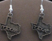 State of Texas Pewter Earrings small