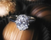 18K recycled white gold and 1.33ctw moissanite - Cherish