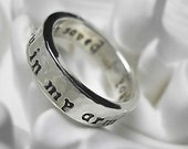 RESERVED RECYCLED Sterling Silver Ring w/ Personalized Message - Design Your Own