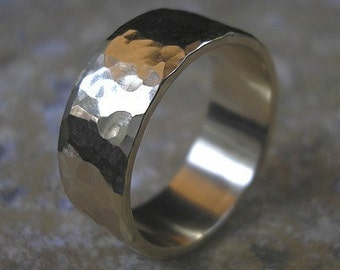 Hand Hammered -14k recycled gold Handmade to Order