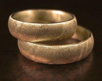 Carved Gold -18k gold sizes 9 - 11
