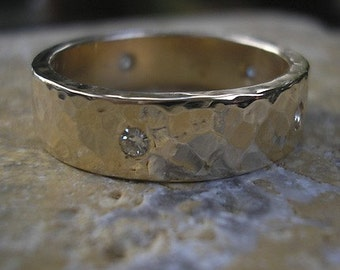 14k Recycled Gold and Moissanites
