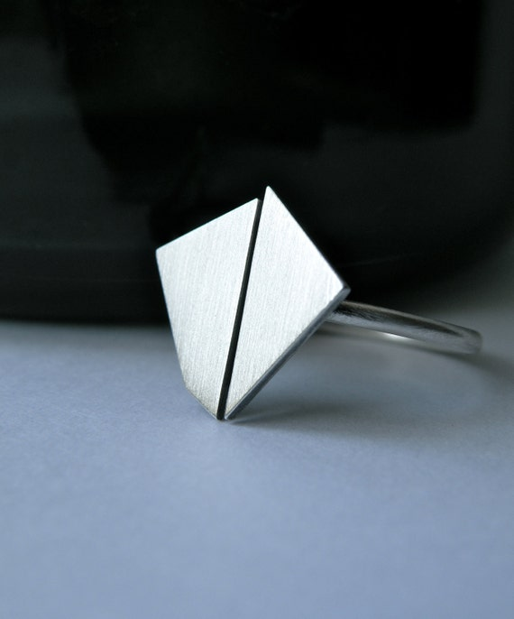 First Crush Collection - modern geometric ring No.3