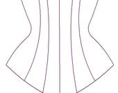 Paper Sewing Pattern for Custom Underbust Corset