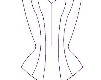 Paper Sewing Pattern for Custom Overbust Corset