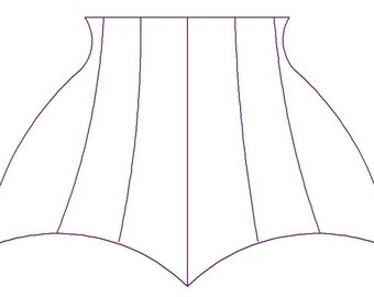 Paper Sewing Pattern for Custom-Sized Waist Cincher (corset)- Longline (sale with Charity Involvement)