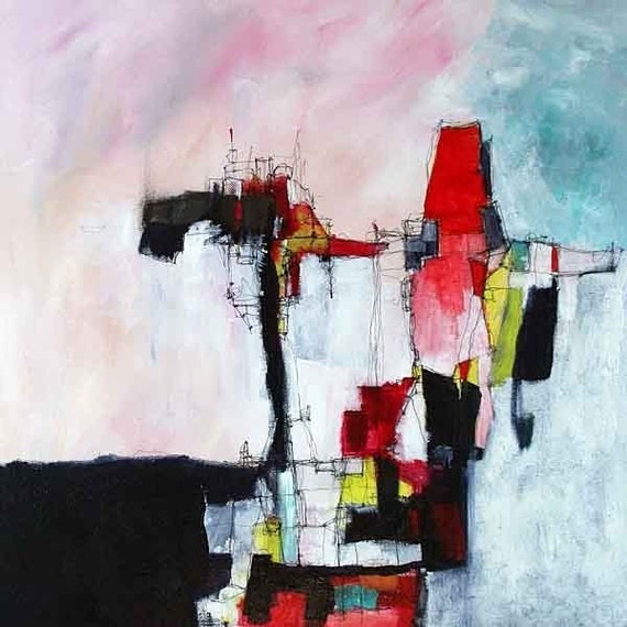 aoc 027 giclee print of an original acrylic abstract painting