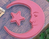 Crescent Moon Rubber Stamps. Stars and Trees. Unmounted UM Deep Etch Rubber Stamp Set.