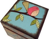 Keepsake,Trinket, Jewlery, Decorative Box, Bird, Owl, Tree, For Children, Baby Storage Box, Gift for Baby Personalized Gift, MADE TO ORDER