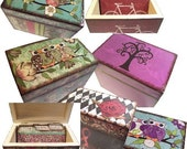 Recipe Box and Tab Dividers SET --Made To Order 4x6--- LARGE BOX and Crafted by Hand --- See Listing