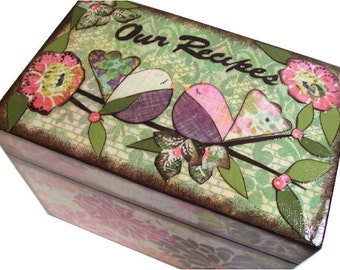 Wedding Guest Book Box Alternative, Personalized Wedding Box Holds 4x6 Cards, Couples Gift, Wedding Gift, Bridal Shower Gift, MADE TO ORDER