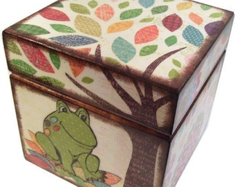 Keepsake, Treasure, Trinket  Storage Box For Baby or Child, Bird, Frog, Owl Decor, Decorative Baby, Child Decor, Organizer, MADE TO ORDER