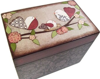 Wishes for Baby Box, Baby Shower Box, Holds 4x6 Wishes Cards, Decorative, Gift for Baby or Child, Baby Bird Nest, Baby Storage MADE TO ORDER