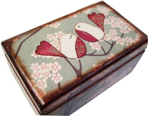 Trinket  Box     MADE TO ORDER  Decoupaged  SEE LISTING