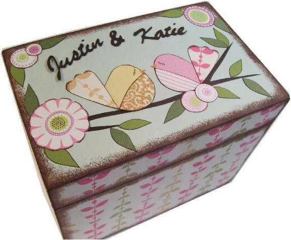 Alternative Gifts For Wedding Party : ... Wedding Box Holds 4x6 Cards, Bird Box, Wedding Gift, Bridal Shower