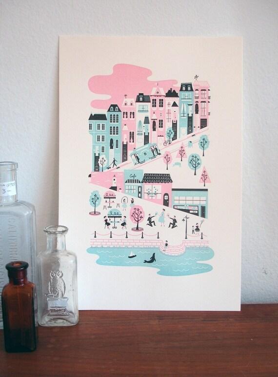 San Francisco Letterpress Print