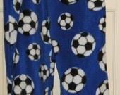Soccer balls on blue fleece sleep pj or lounge pants sz 4 SALE ITEM