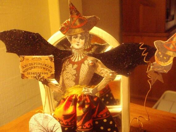 Altered Art Halloween Paper DoLL etsyfolk