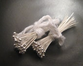 100 Fine Silver Balled Headpins - 26 gauge, 1.5-1.75 inches long - free domestic shipping