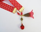 Red and White Polkadot Bookthong/Bookmark...price includes shipping