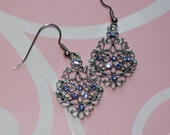 Elegance in Periwinkle earrings