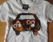 CLEARANCE SALE READY TO SHIP  Baby Boy's Car Shirt in Owl size 3to6m