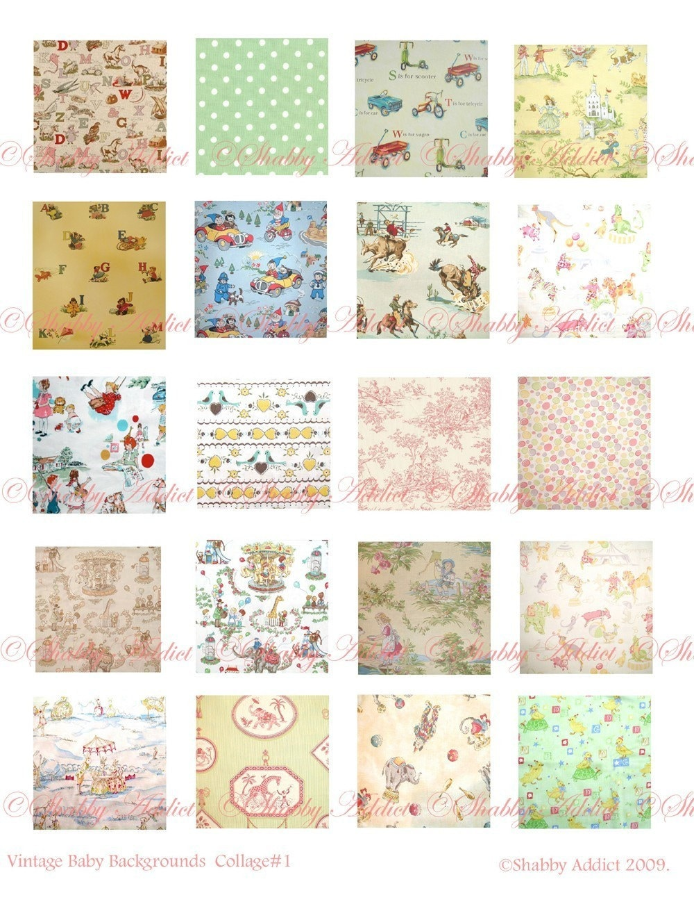 vintage collage baby sheets reply