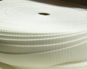 Webbing 1 Inch White Heavy Duty Polypro 5 Yards