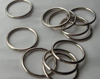 O Ring 1 inch Steel Nickel Plated Pk of 4 Unwelded