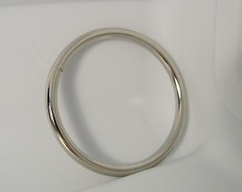 Welded O rings 3 Inch Nickel Plated O Rings Pack of 2
