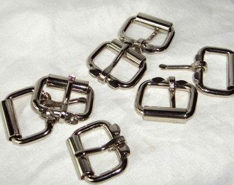 Roller Buckles 1 Inch Nickel Plated Pk of 10