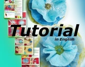Felted Flowers scarf accessories Tutorial in English PDF