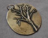 Fine Silver Autumn \/ Winter Tree Pendant