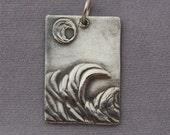 Fine silver Tides Pendant