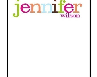 Fun Multi color Personalized Notepad