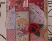 Be My Valentine - Valentine Day Card and Envelope
