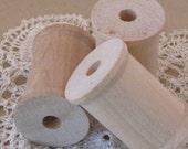 Wooden Spools - Set of 3