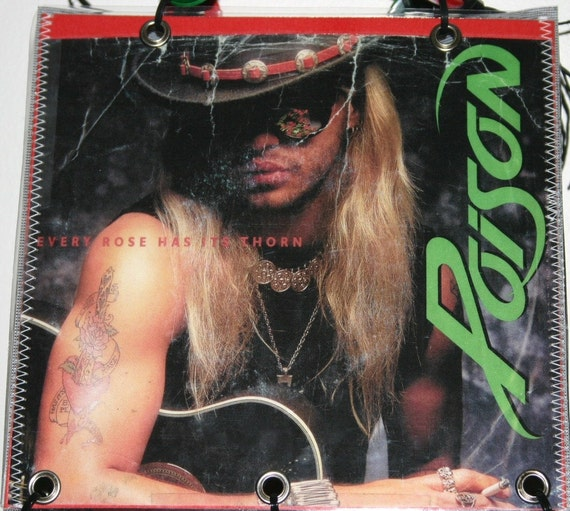Poison Record Album Cover Purse Tote Handbag By Rocknrecycle