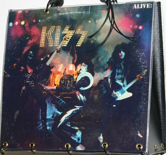 Kiss Alive Vinyl Record Album Cover Purse Tote Handbag