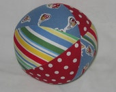 SALE -- Fabulous Forties Fire Truck Fabric Ball Rattle Toy