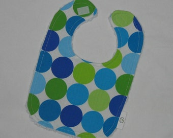 Caribe Disco Dot Fabric and Chenille Bib