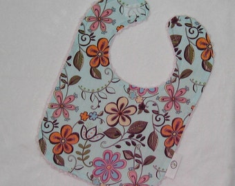 Gorgeous Floral and Chenille Bib