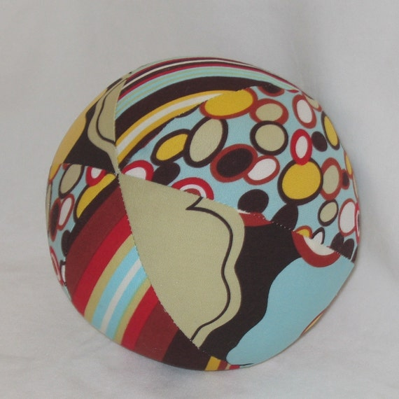 Alexander Henry Kleo Fabric Boutique Ball Rattle Toy