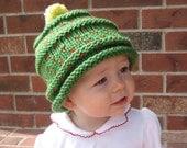 Organic Cotton Knit Christmas Tree Hat