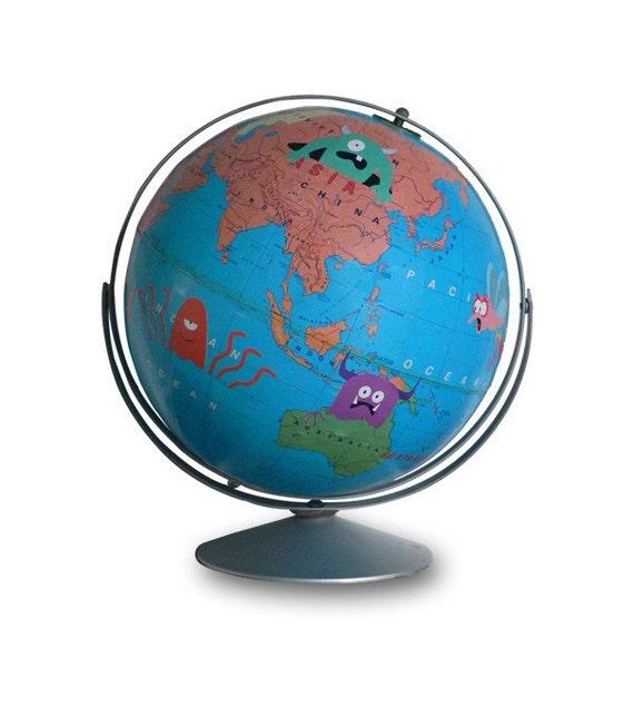 Wild World, Vintage Globe Art