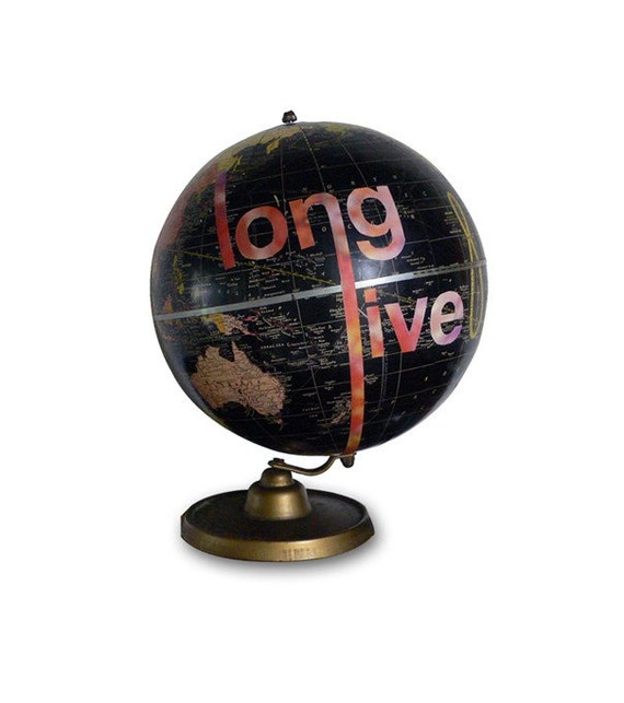 Rock My World, Vintage Globe Art